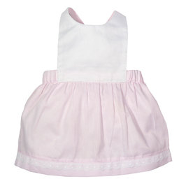 Pink Cotton Pinafore Dress