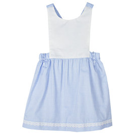 Blue Cotton Pinafore Dress