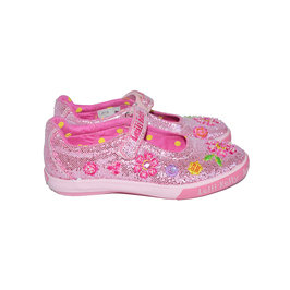 Glitter Pink Canvas Shoes