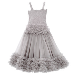 Silver Grey Frilly Top and Tutu Skirt Set