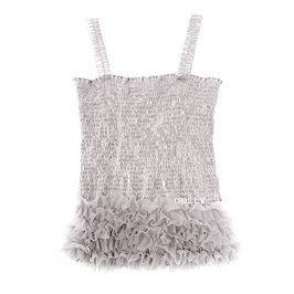 Silver Grey Frilly Top