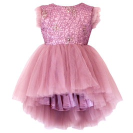 Girls Dusty Pink Sequin Dress