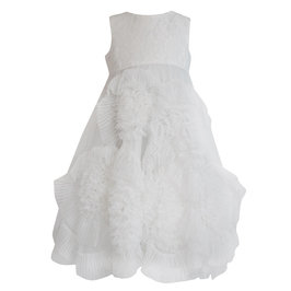 Off-White Frisky Frolic Long Pleated Tulle Dress