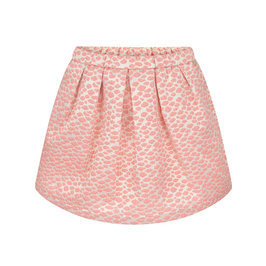 Peach and gold brocade skirt