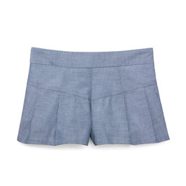 Chambray Pleated Short