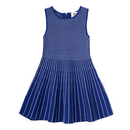 Dot Stripe and Flare Dress