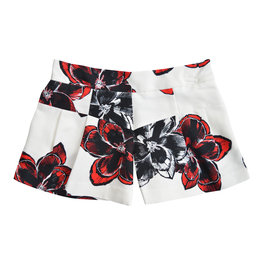 Magnolia Print Pleated Short