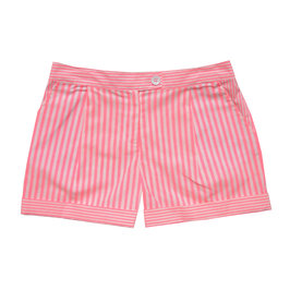Neon stripe mini shorts