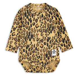 Basic Leopard Long Sleeve Bodysuit