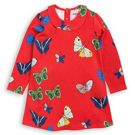 Butterflies Pattern Collar Dress