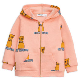 New Season: Pink Cat Campus Zip Hoodie