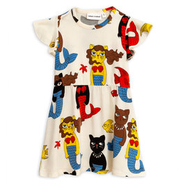 Cat Mermaid Dress AOP Print