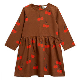 Cherry Woven LS Dress