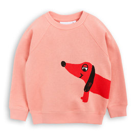 Dog Printed Pink Sweatshirt
