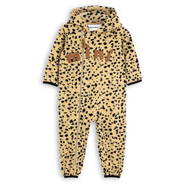 Beige Fleece Spot Onesie