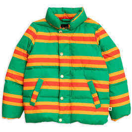 Green Stripe Puffer Jacket