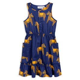 New Season: Horse Woven Flounce Dress
