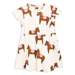 New Season: Printed Pink Horse Dress