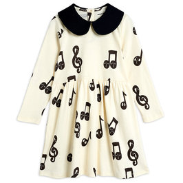 Notes AOP LS Dress