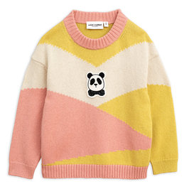 New Season: Pink Panda Knitted Wool Pullover