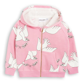 Pink Hoodie with Peace Doves