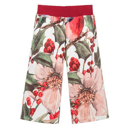 "Red Flower Print ""Bibi"" Pants"