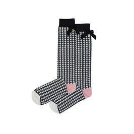 Black and White Checkered Knee Socks