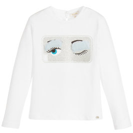 Girl Fancy Eye Print T-Shirt