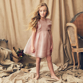 Mae Silk Dress in Petal Pink