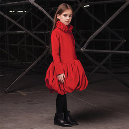"Girls Red Velvet ""Flame"" Dress"