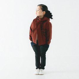 Deep Red Hooded Jacket