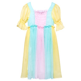 Multi-Color Chiffon Queen Dress Iris