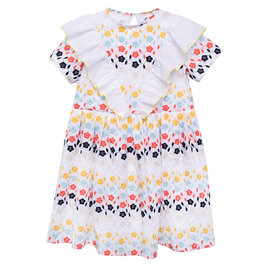 Embroidered Cotton Queen Dress Lupina