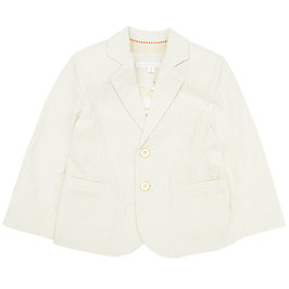 "Cream Striped ""Oscar"" Blazer"