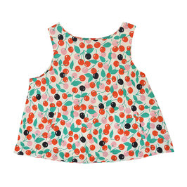 Cherry Print Sleeveless Top