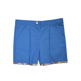 Flower Printed Blue Short