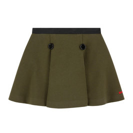 Khaki Pleated Skirt