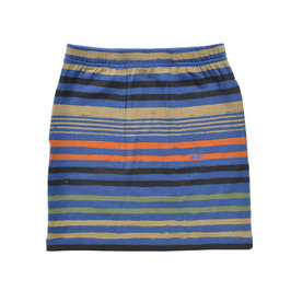Navy Stripe Casual Short Skirt