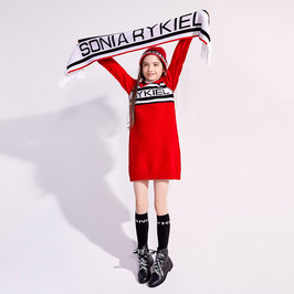 "Branded Logo Knitted ""Bonavita"" Dress"