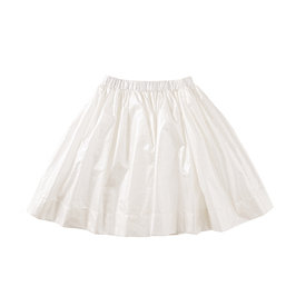 Metallic White Skirt