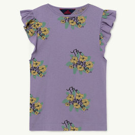 Purple Flowers Fly Dress