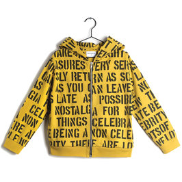 "Alphabet Soup Print ""Pedro"" Hooded Sweater"