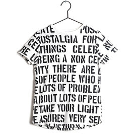 "New Season: Alphabet Soup Print ""Sebastiao"" Tee"