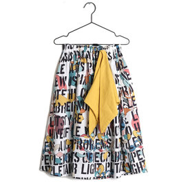 "Kids Motto Print ""Lurdes"" Long Skirt"