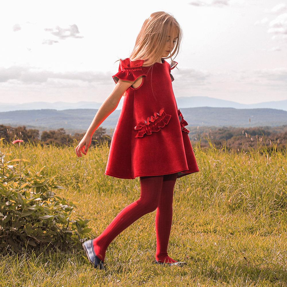 red velvet dress thumbnail - Red Christmas Dress