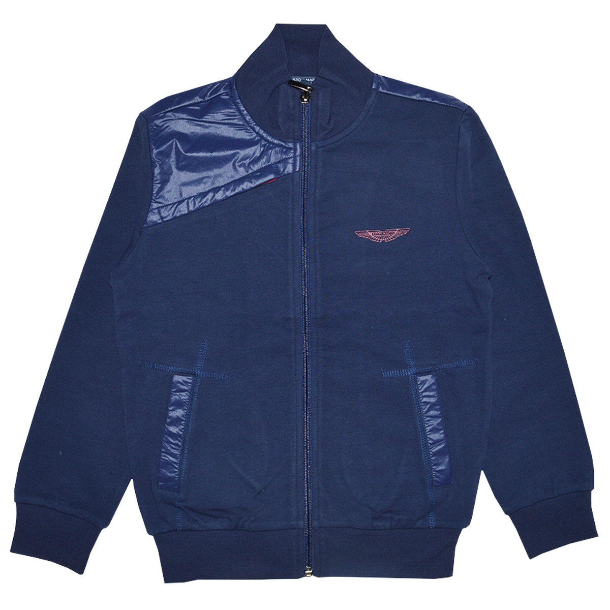 Boys Navy Blue Cotton Jacket Aston Martin Jackets Coats Angelibebe