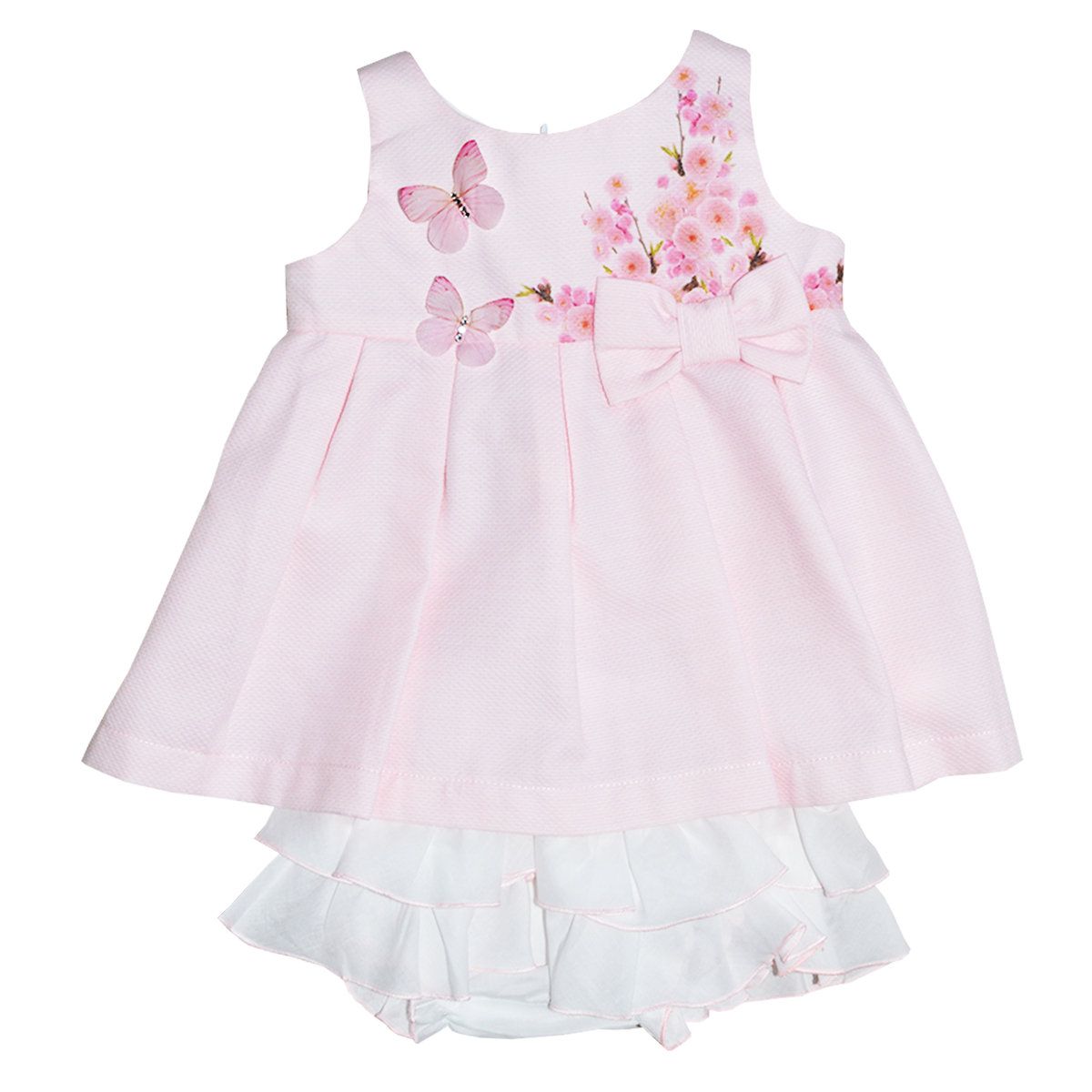 Baby Girl Pink Butterfly Dress With Bloomer Balloon Chic