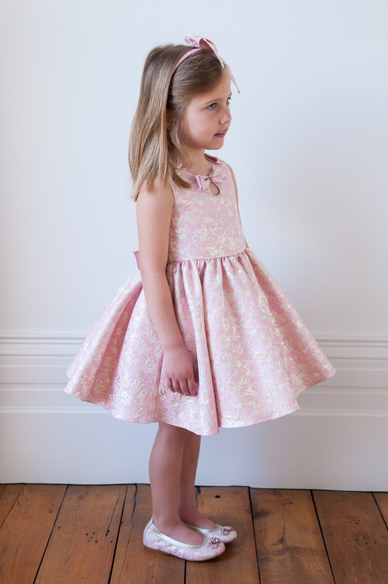 Girls brocade dress images