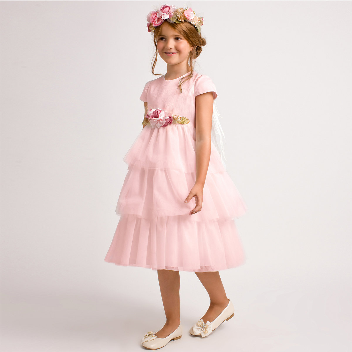 Pink Tulle Dress with Wings | Graci Sale | Angelibebe