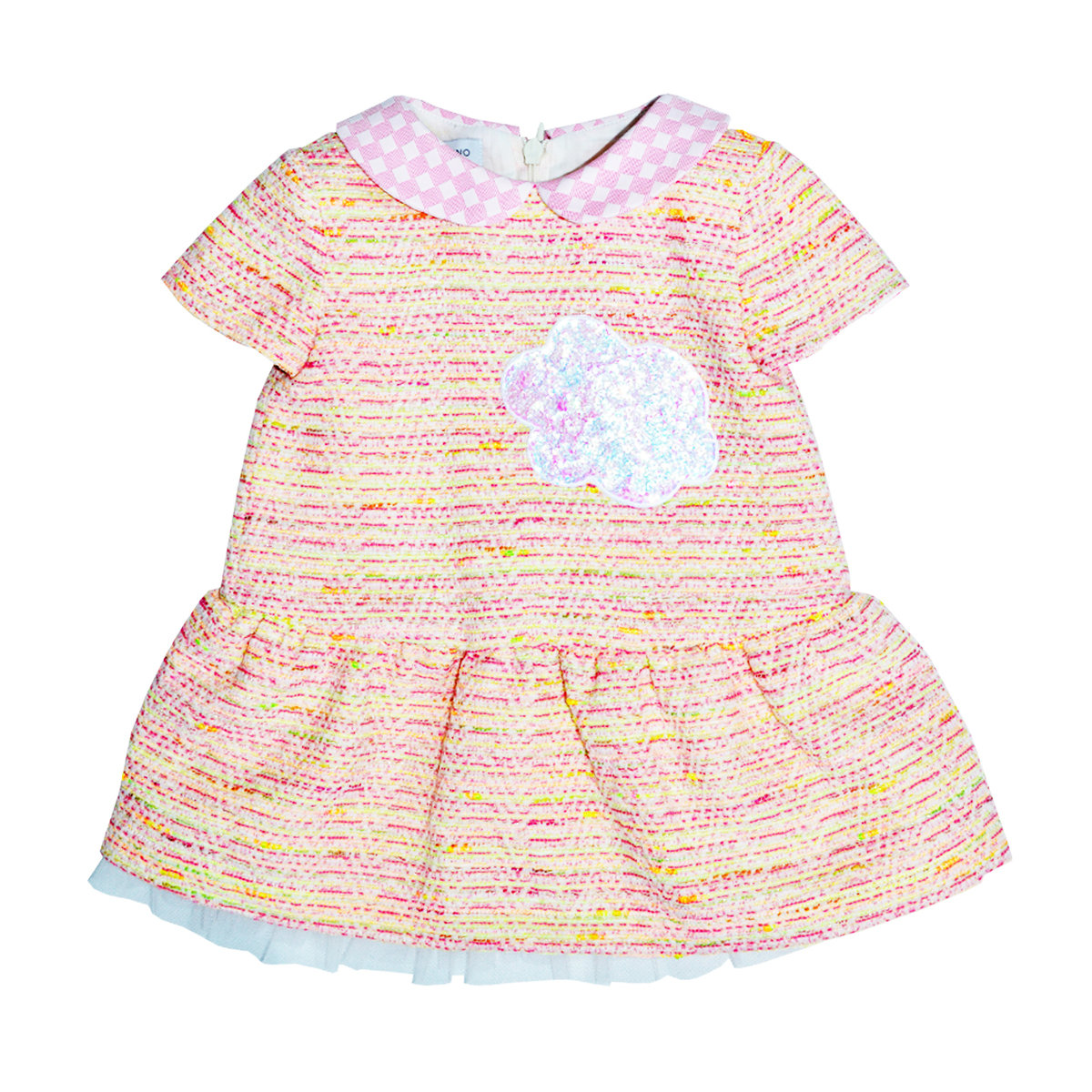 e8a5159a2fd Baby Girl Tweed Dress | I Pinco Pallino Dresses | Angelibebe Singapore